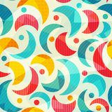 Colored semicircle seamless pattern with glass effect Royalty Free Stock Photos