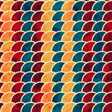 Colored semicircle seamless pattern with grunge effect Stock Image