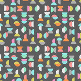 Colored semicircle seamless pattern Royalty Free Stock Photos