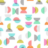 Colored semicircle seamless pattern Royalty Free Stock Image