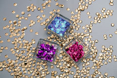 Colored Sequins Royalty Free Stock Photos
