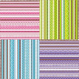 Colored set of patterns Stock Images