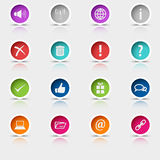 Colored set round web buttons element Royalty Free Stock Photography
