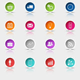 Colored set round web buttons template Stock Photos