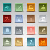 Colored set square web buttons template Royalty Free Stock Photos