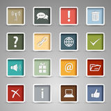Colored set web buttons retro style Royalty Free Stock Photos