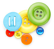 Colored sewing buttons Stock Images