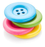 Colored sewing buttons Stock Image