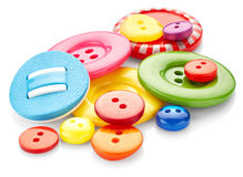 Colored sewing buttons Royalty Free Stock Photos