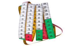 Colored sewing centimeter Royalty Free Stock Image