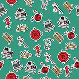 Colored sewing pattern Royalty Free Stock Photo