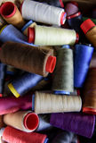 Colored sewing rolls Stock Photo