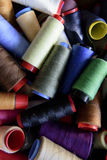 Colored sewing rolls Royalty Free Stock Image