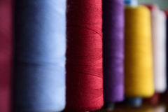 Colored sewing rolls Royalty Free Stock Images