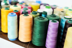 Free Colored Sewing Spool Stock Photos - 27183423