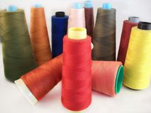 Colored sewing threads Royalty Free Stock Photos