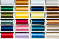 Colored sewing threads Royalty Free Stock Photo
