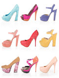 Colored shoes stock photo