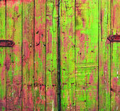Colored Shabby Wooden Gate Royalty Free Stock Photos