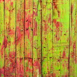 Colored Shabby Wooden Planks Stock Images