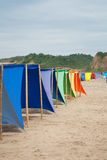 Colored shade tents Stock Image