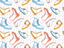 Colored shading boots seamless pattern Stock Image
