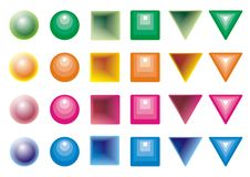 Colored shapes. Set of colored shapes with 3d style Stock Images