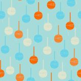 Colored shapes. Retro seamless pattern. Royalty Free Stock Photo