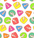 Colored shapes seamless pattern Stock Image