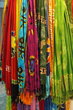 Colored shawls Stock Photography