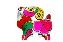 Colored Sheep Made of Clay Royalty Free Stock Image