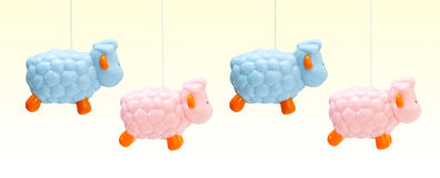 Colored sheep for newborns. Royalty Free Stock Images