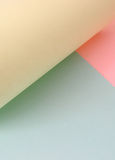 Colored sheets. Of paper, overposed to create shadows and soft contrasts Stock Photography
