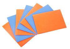 The colored sheets of paper Royalty Free Stock Image