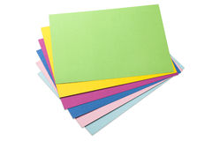 Colored sheets of paper Royalty Free Stock Photography