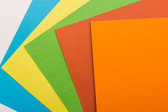 Colored sheets of paper Stock Photos