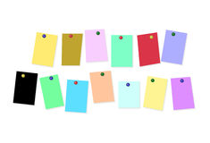 Colored sheets of paper on white background with place for your text Stock Photos