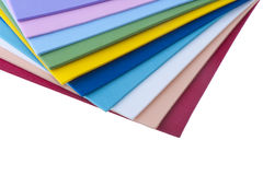 Colored sheets of plastic Stock Images