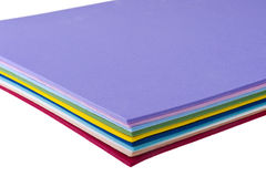 Colored sheets of plastic Royalty Free Stock Image