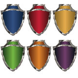 Colored shields Stock Image