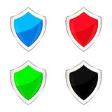 Colored shields Royalty Free Stock Photography