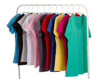Colored shirts Royalty Free Stock Images