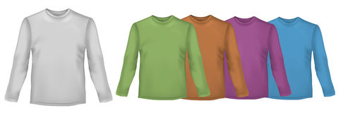Colored shirts with long sleeves. Stock Photo