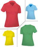 Colored shirts (women). Stock Image