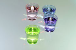 Colored Shooter Drinks, Isolated Royalty Free Stock Image