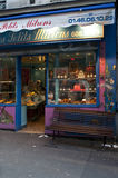 Colored shop in Paris. Colored shop in Montmartre, Paris Royalty Free Stock Images