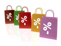 Colored shopping bags Royalty Free Stock Photo
