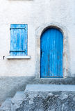 Colored  shutters on an old facade Royalty Free Stock Photography