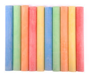 Colored sidewalk chalks (Clipping path) Stock Photo