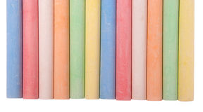 Colored sidewalk chalks (Clipping path) Royalty Free Stock Photo
